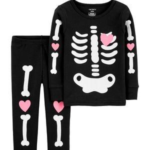 Carter's 2-Piece Skeleton Halloween Pajamas